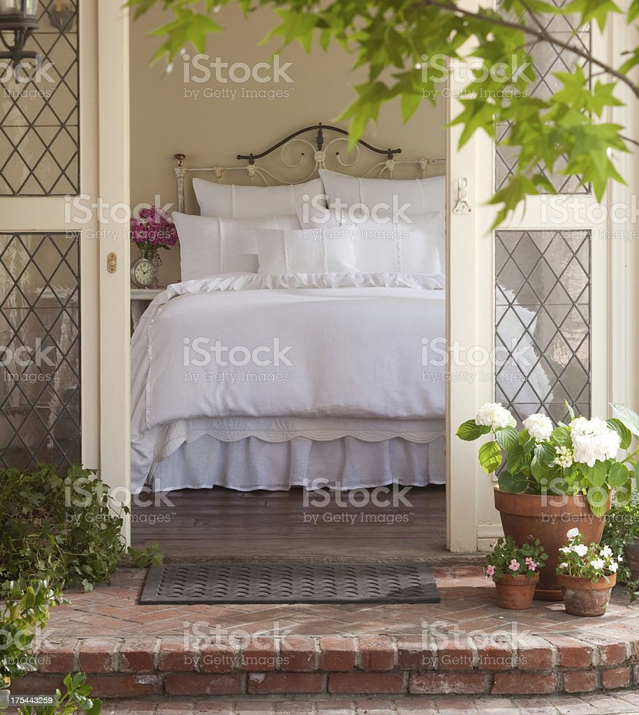 bed and breakfast stock photo