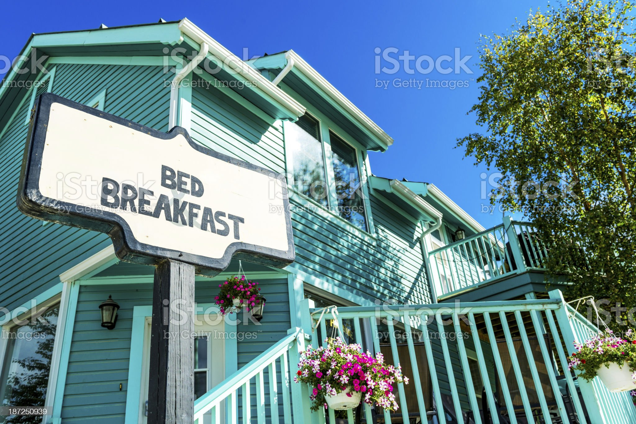 Bed and Breakfast royalty-free stock photo