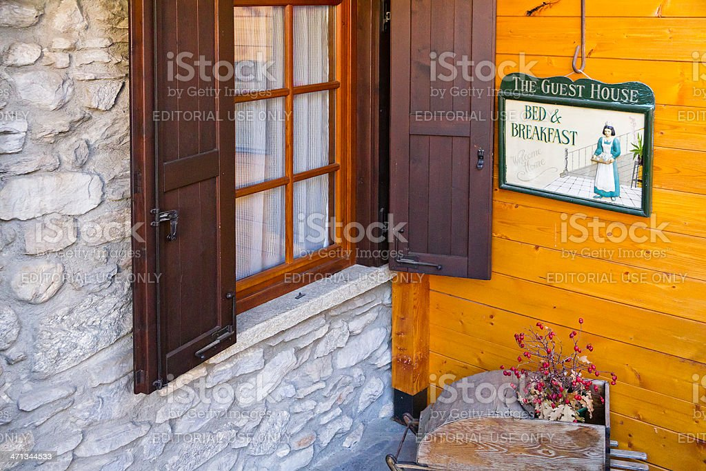 Bed and Breakfast Sign stock photo
