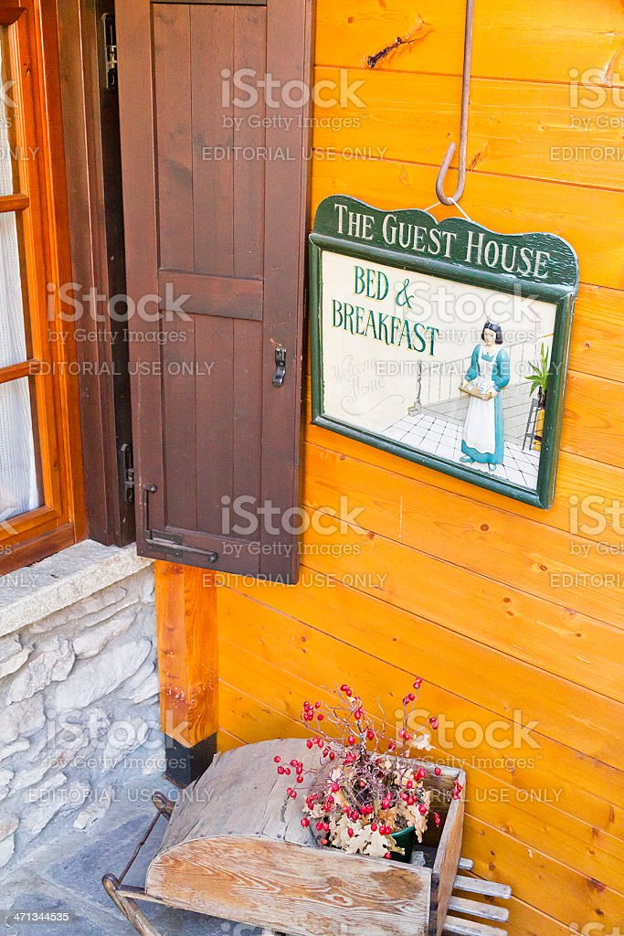 Bed and Breakfast Sign royalty-free stock photo
