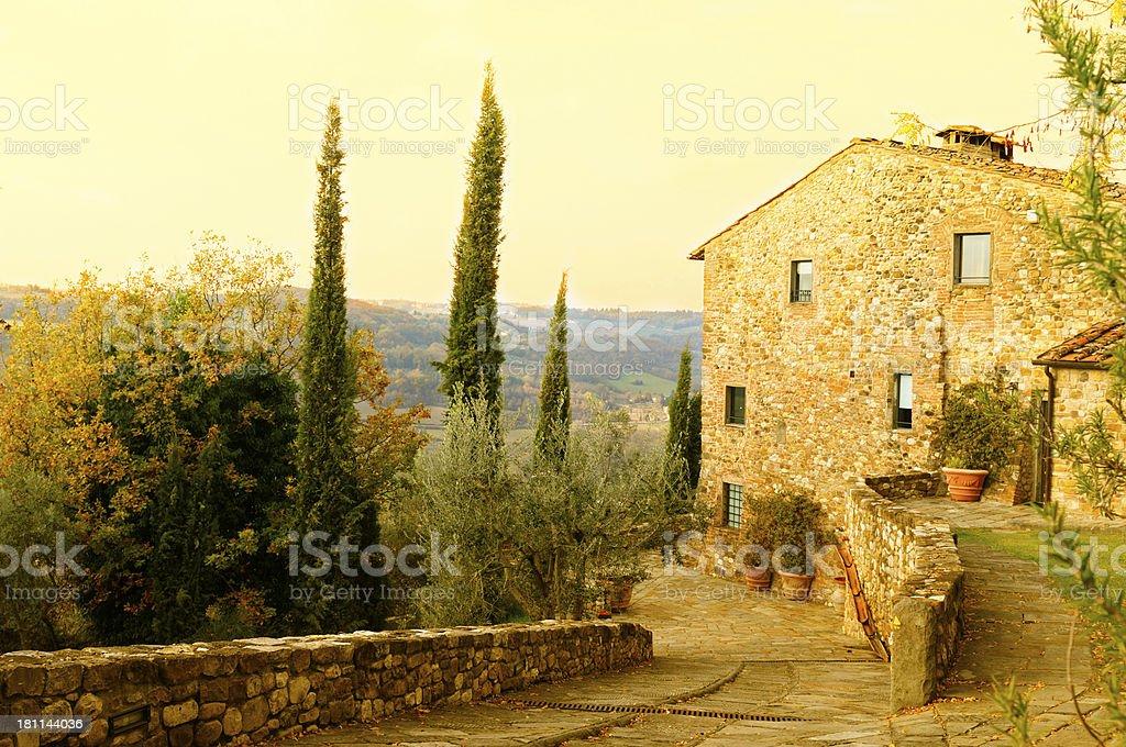 Bed And Breakfast,Tuscany,Italy stock photo