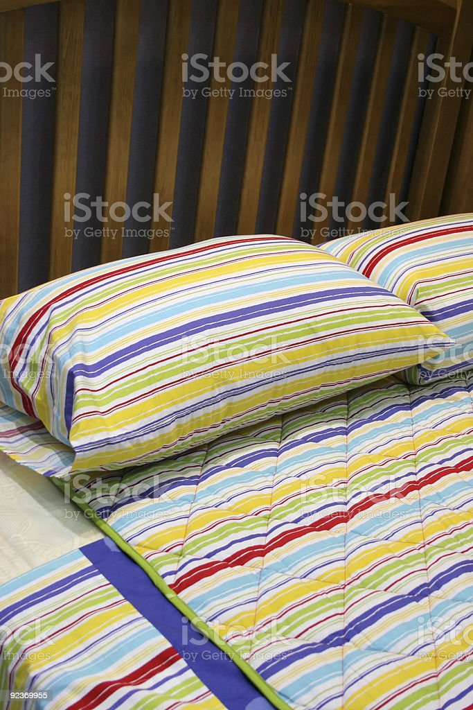 Bed - bedroom interiors royalty-free stock photo