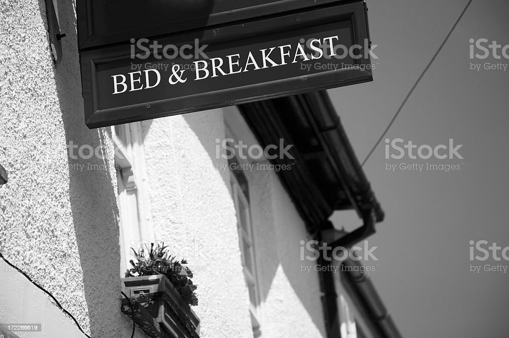 Bed & Breakfast sign stock photo