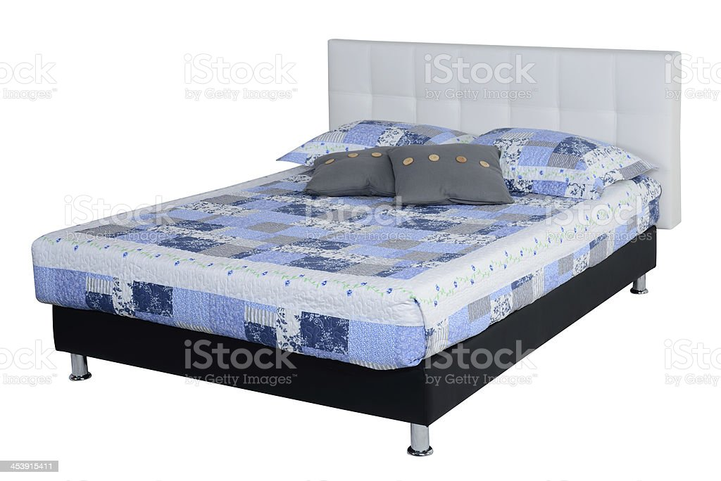 Bed. Clipping path royalty-free stock photo