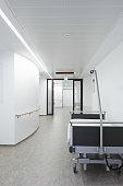 Bed hospital corridor
