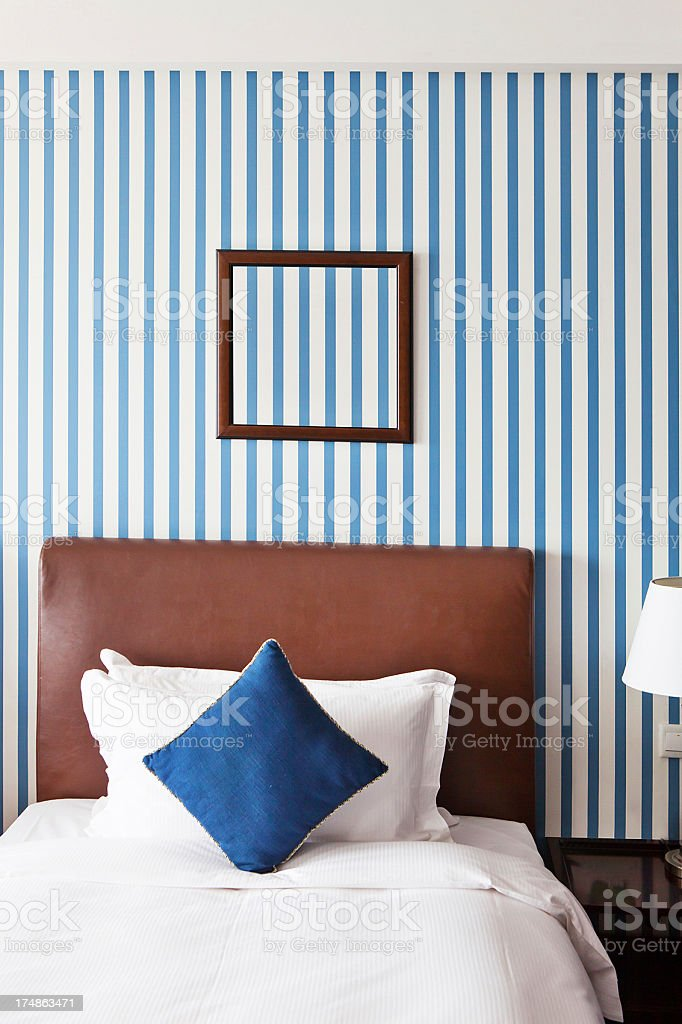 bed in bedroom royalty-free stock photo