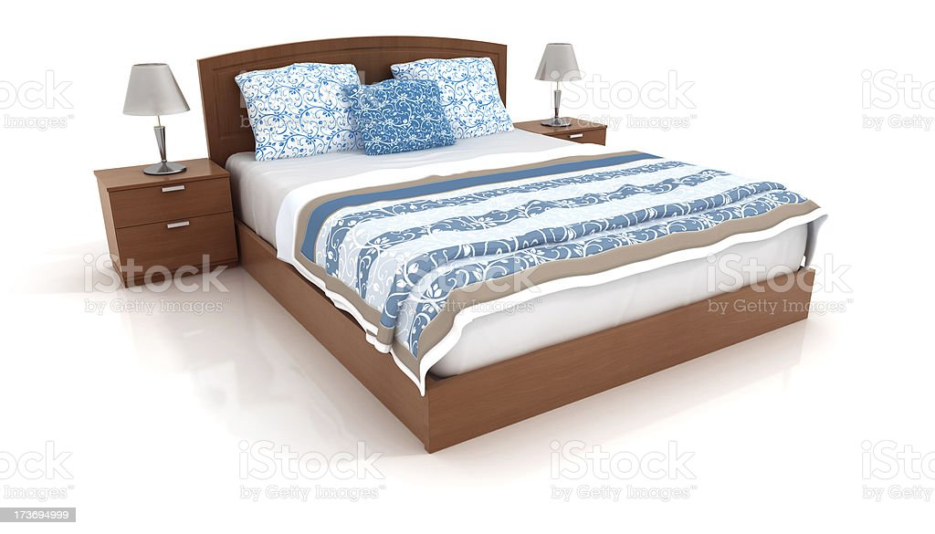 bed isolated on white 2 royalty-free stock photo