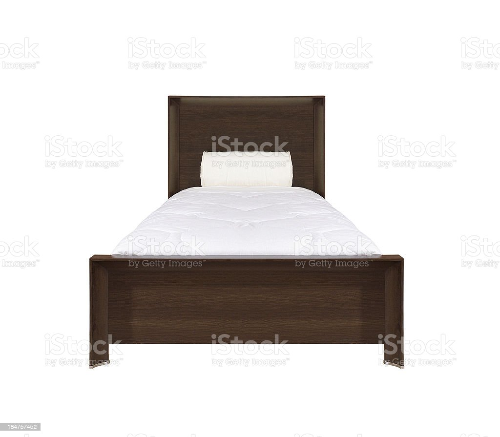 Bed isolated royalty-free stock photo