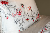 Bed linen, interior design for the home.