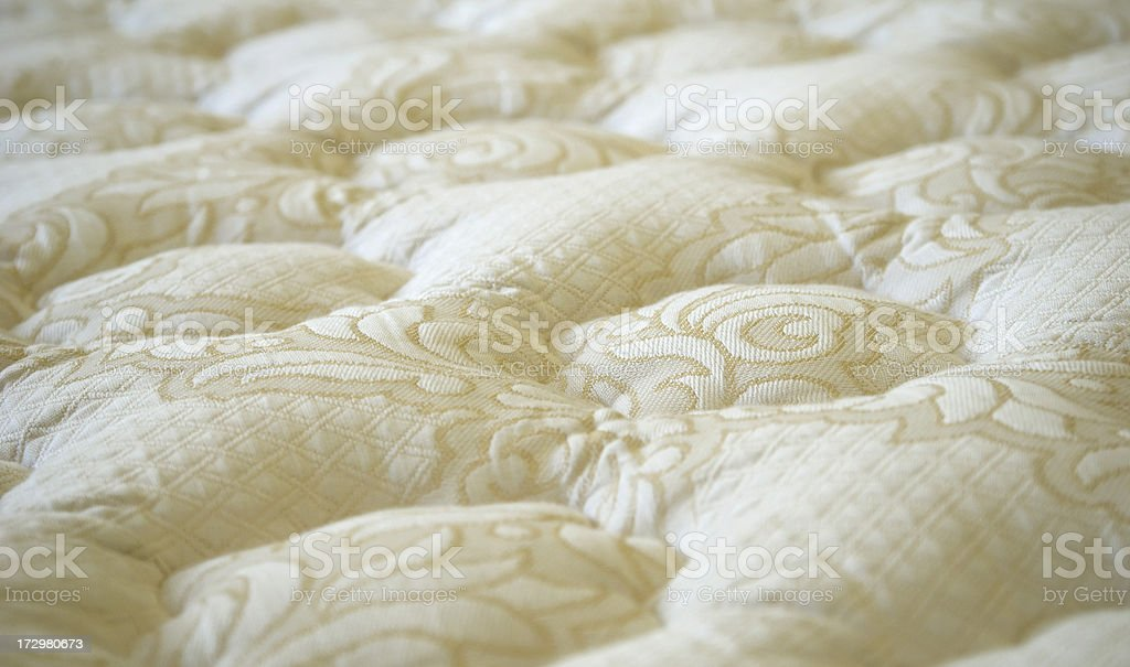 Bed Mattress or Sofa Furniture White Textile Background royalty-free stock photo