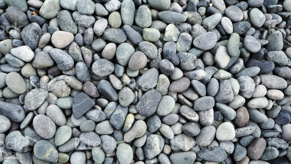 Bed of Gray Pebbles stock photo