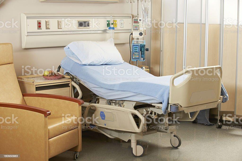 Bed On Hospital Ward stock photo