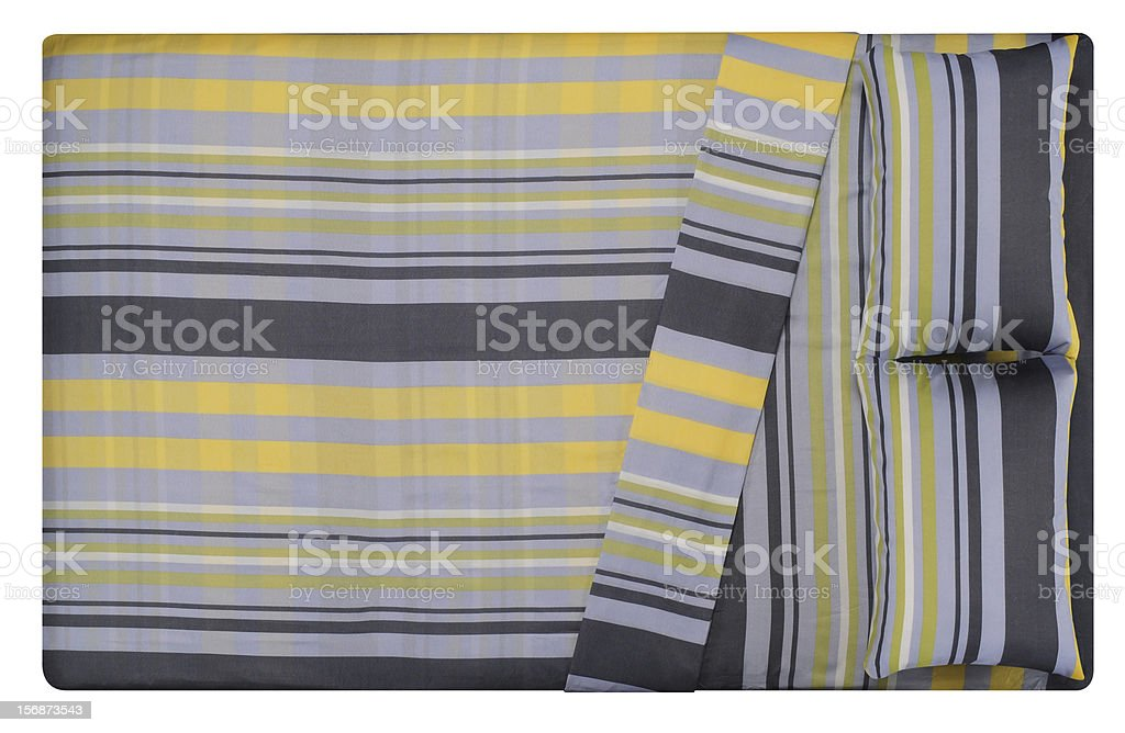 Bed. stock photo