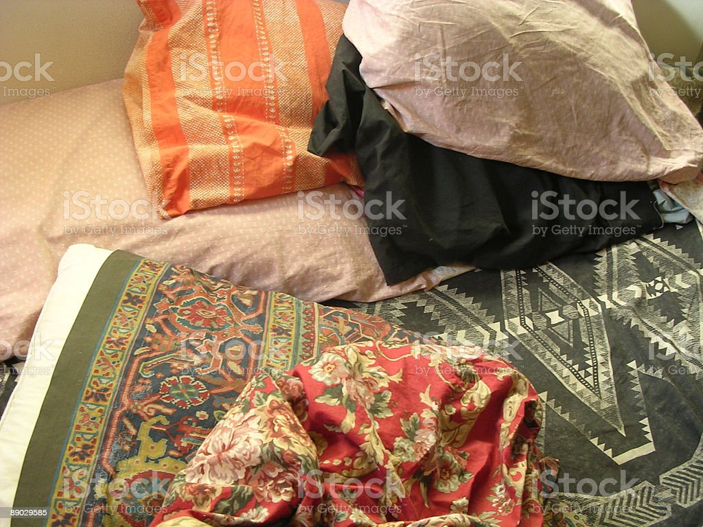 Bed Pillows royalty-free stock photo
