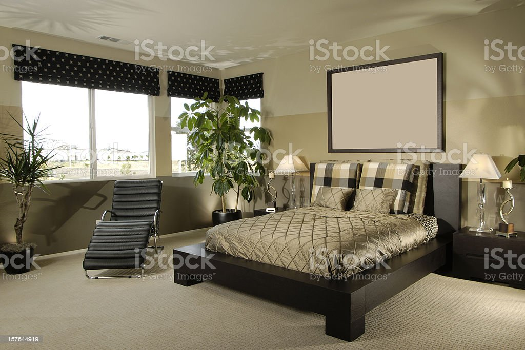 Bed room Interior Design Home royalty-free stock photo