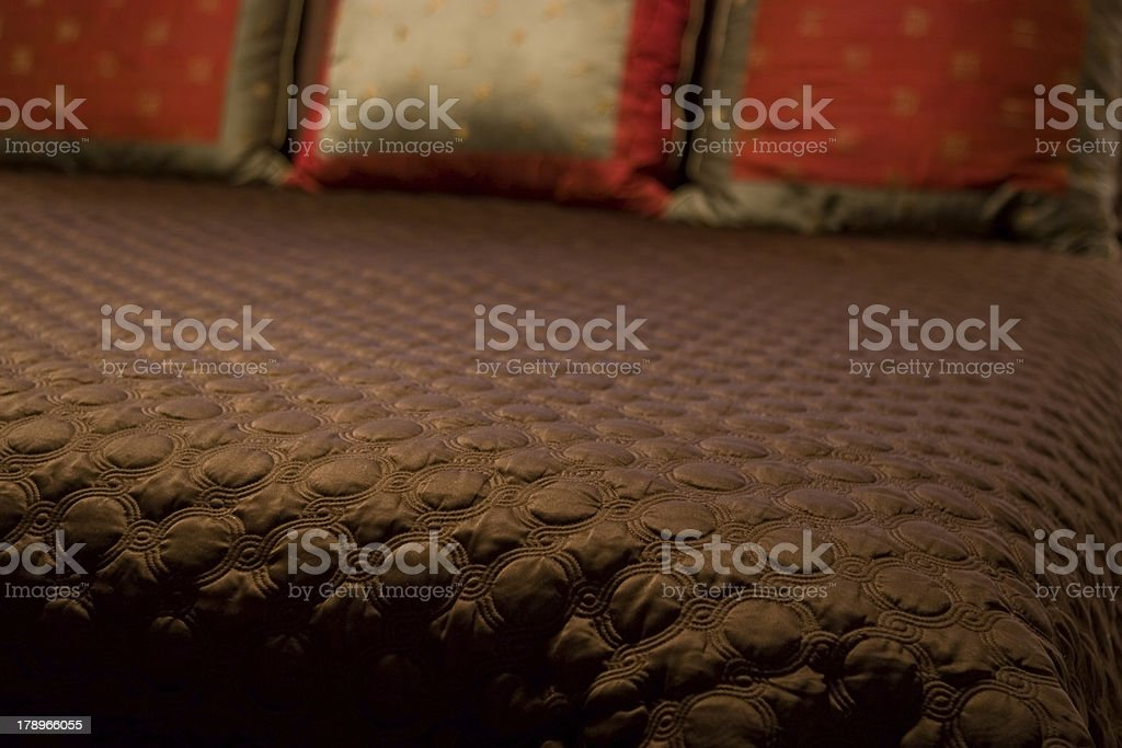 Bed spread royalty-free stock photo