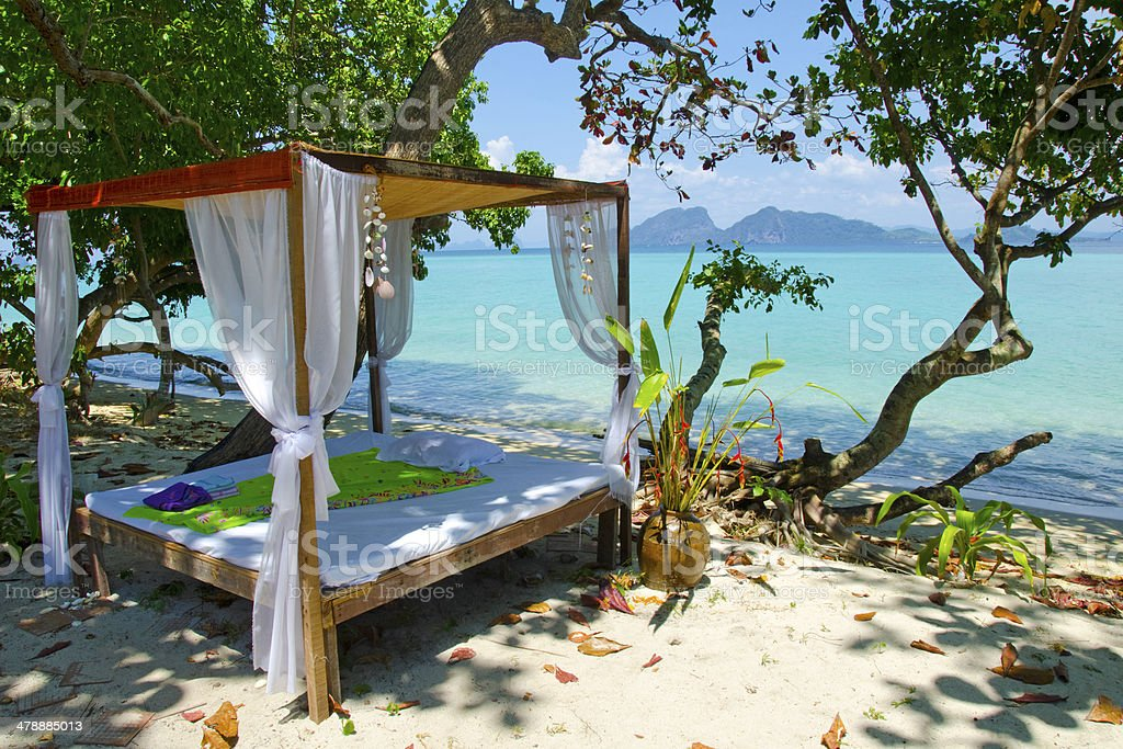 Bed Time by the Andaman Sea royalty-free stock photo