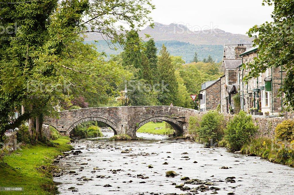 Beddgelert Stone Bridge royalty-free stock photo