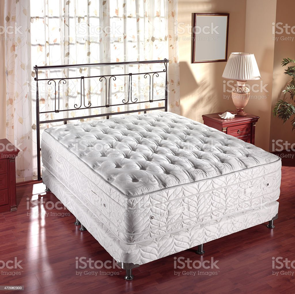 bedding, double bed stock photo