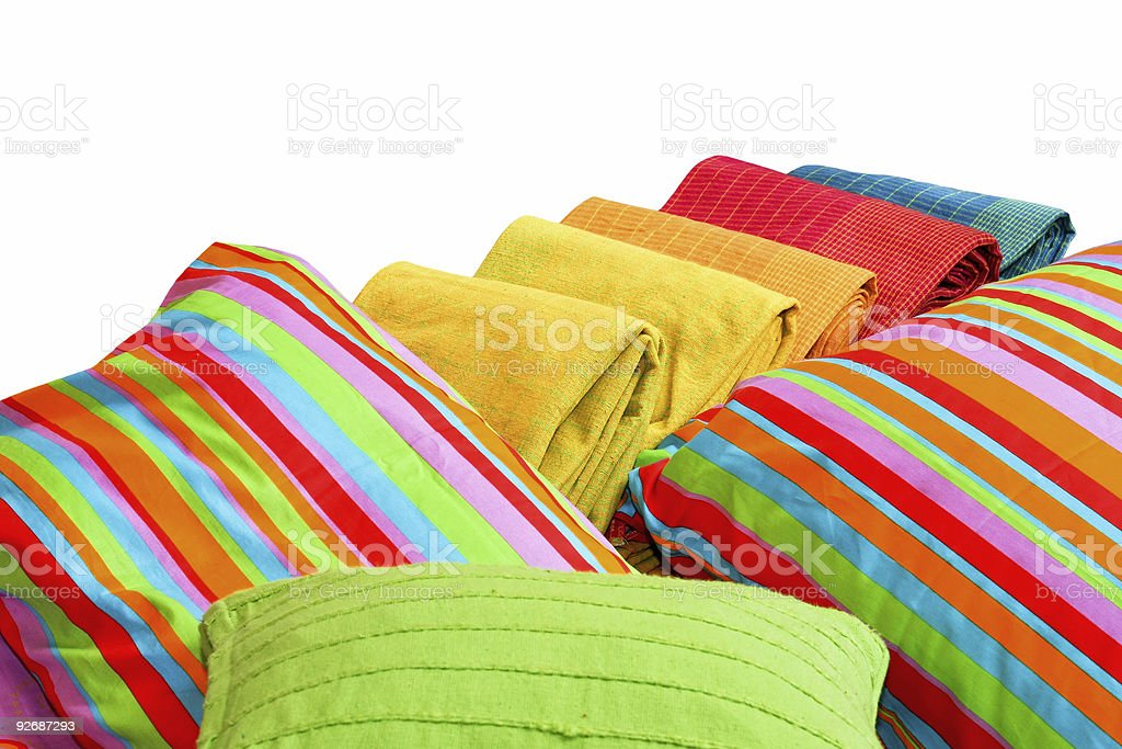 Bedding isolated royalty-free stock photo