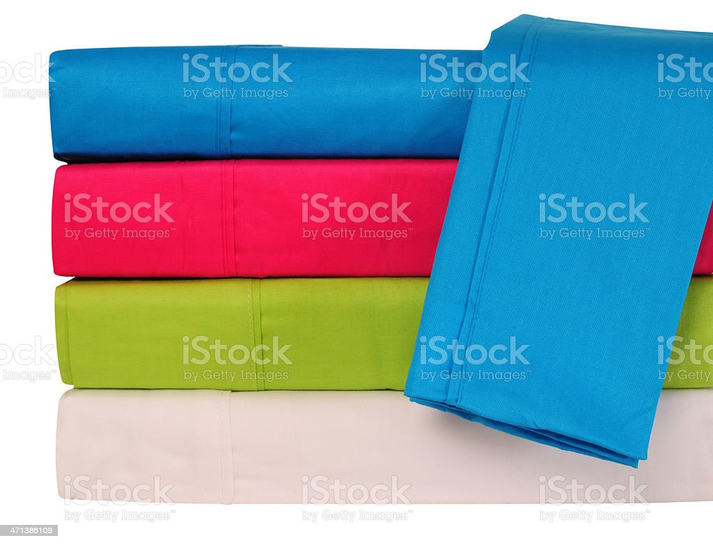 Bedding sheets. stock photo