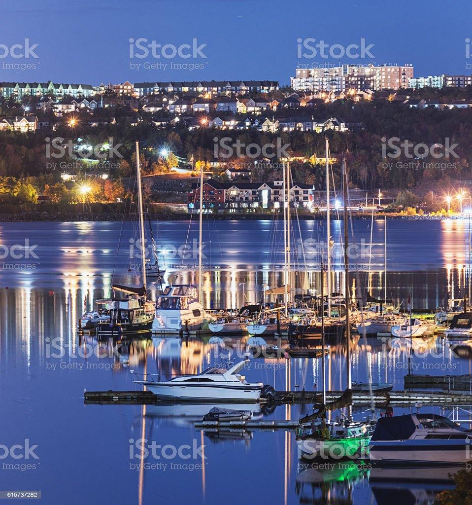 Bedford Basin Marina stock photo