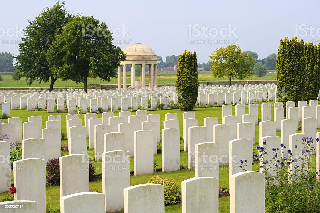 Bedford House Cemetery world war one Ypres Flander Belgium stock photo