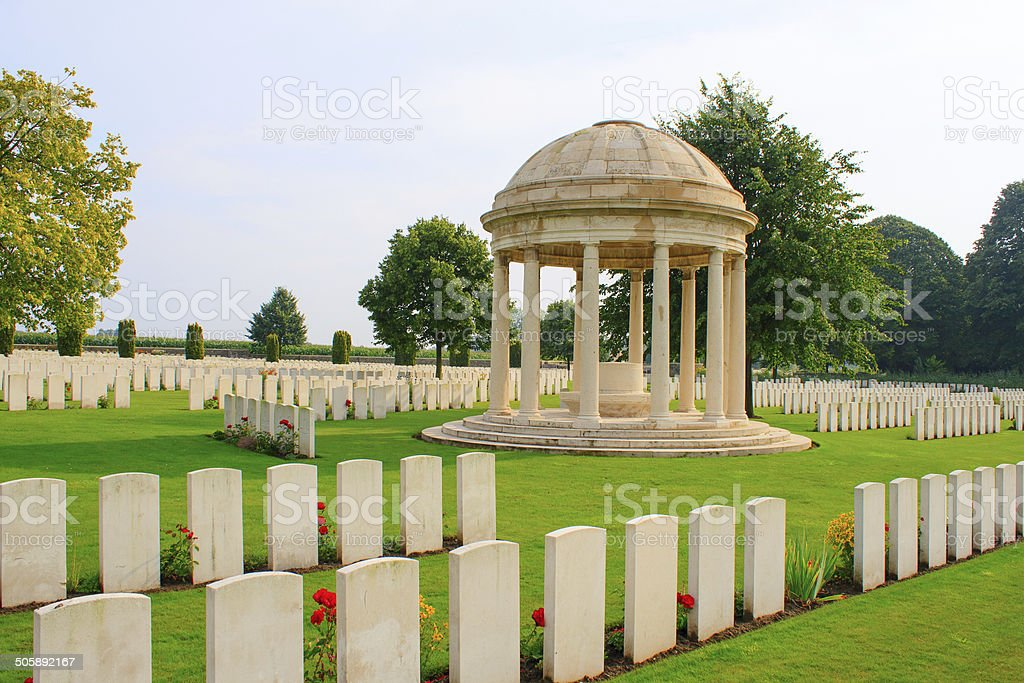Bedford House Cemetery world war one Ypres Flander Belgium stock photo
