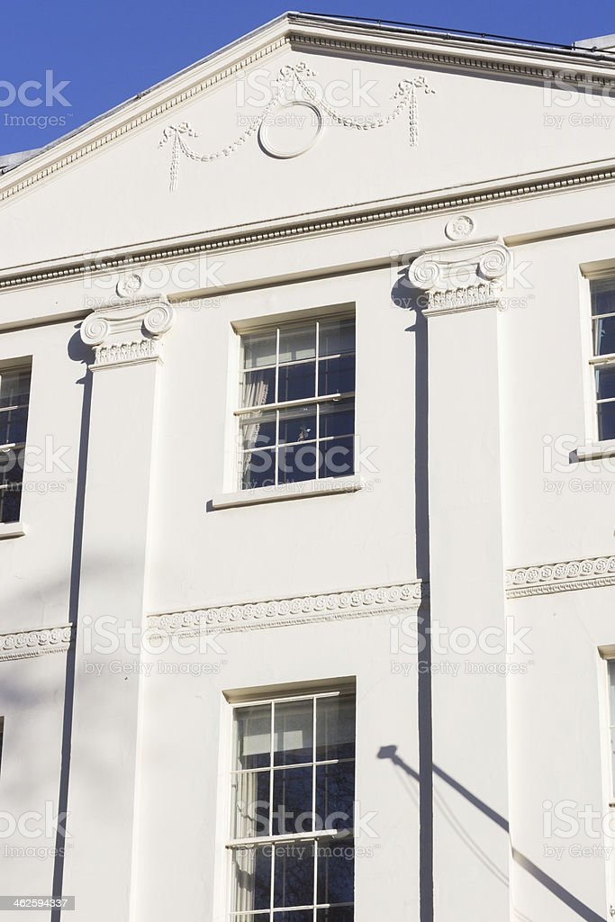 Bedford Square in Camden, London royalty-free stock photo