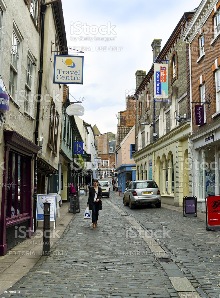 Bedford Street, Norwich royalty-free stock photo