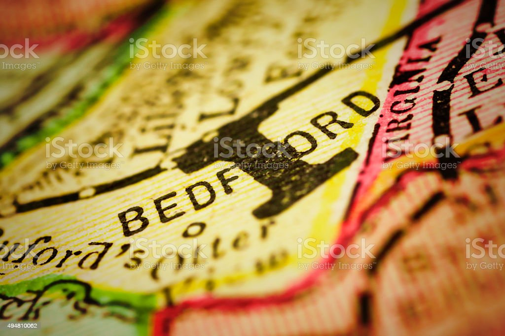 Bedford | Virginia County Maps stock photo