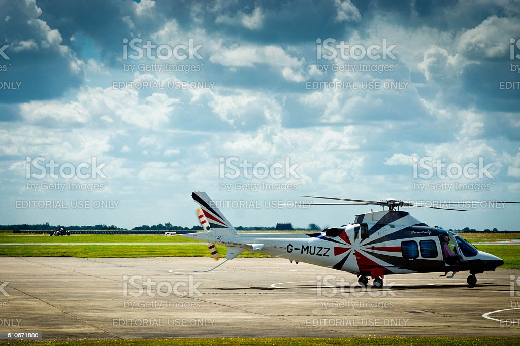 Bedfordshire airfield stock photo