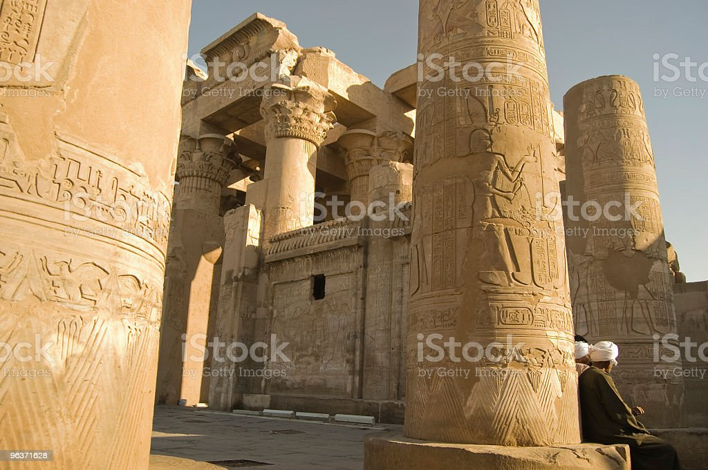 Bedouin at Philae Temple, River Nile - Egypt royalty-free stock photo