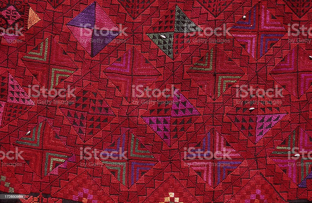 Bedouin Embroidery royalty-free stock photo