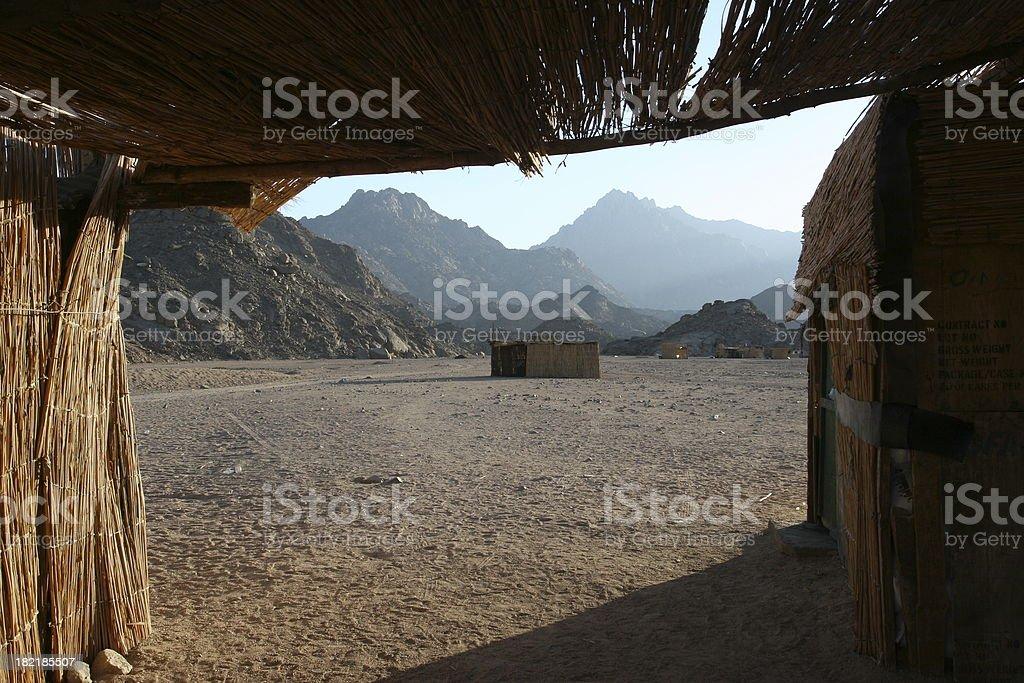 Bedouin Hut royalty-free stock photo