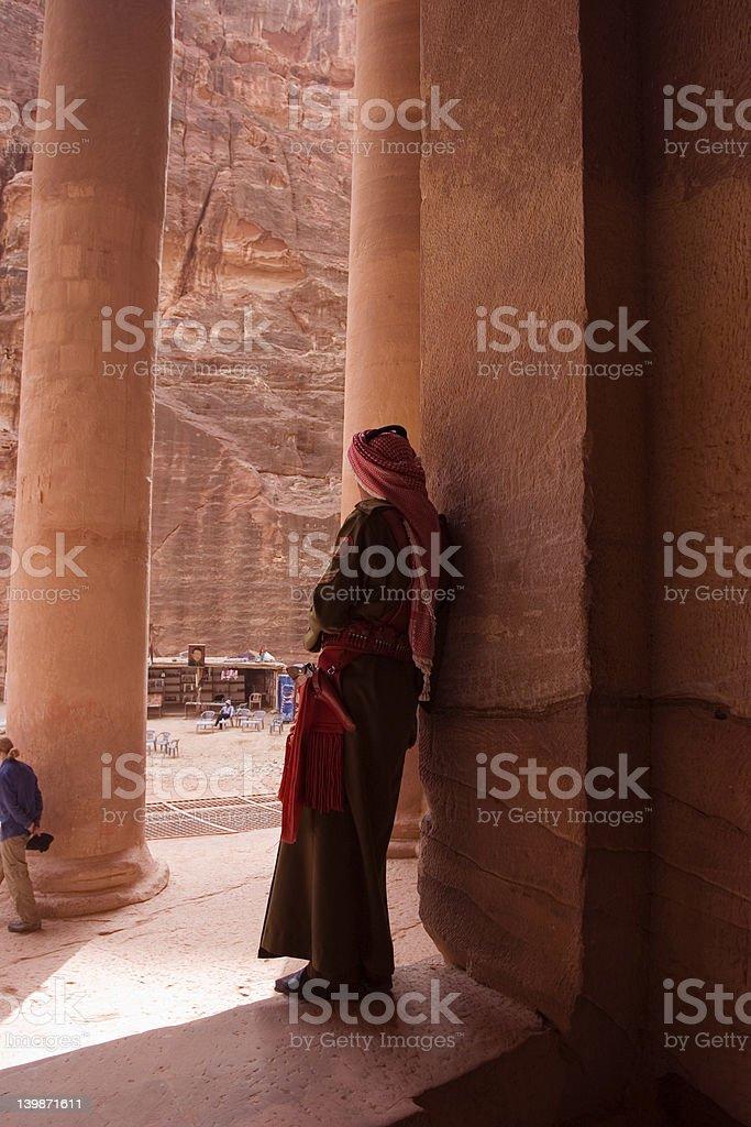 Bedouin Policeman,Petra, Joran royalty-free stock photo