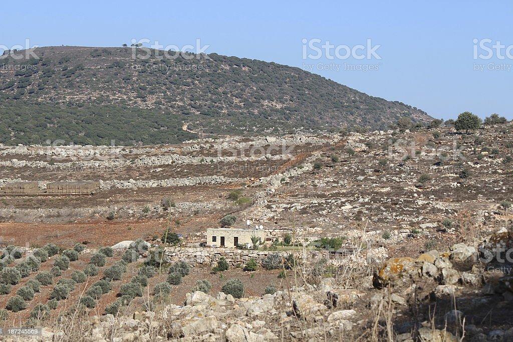Bedouin settlement in Galillee Israel stock photo
