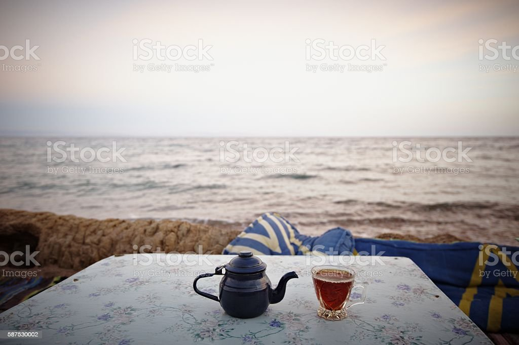 Bedouin tea stock photo