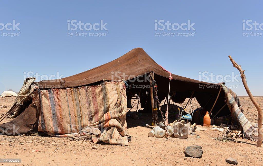Bedouin tent, Sahara stock photo