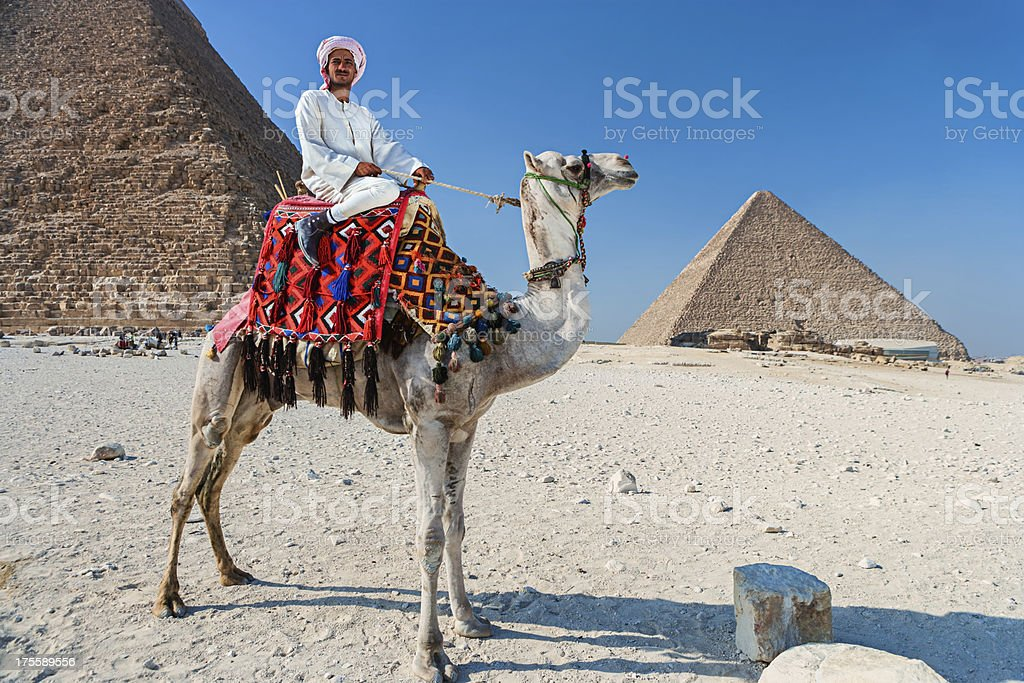 Bedouin with camel royalty-free stock photo