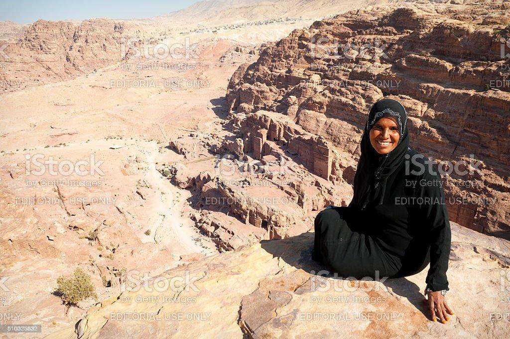 Bedouin woman in Petra, Jordan, Middle East stock photo