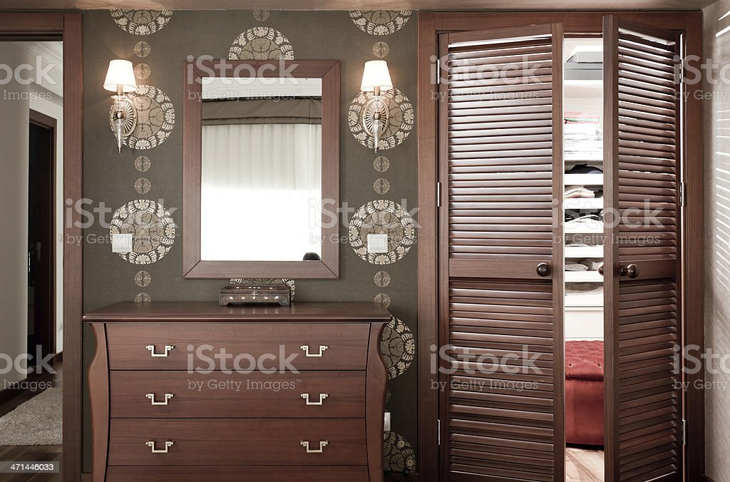 bedroom and dressing room royalty-free stock photo