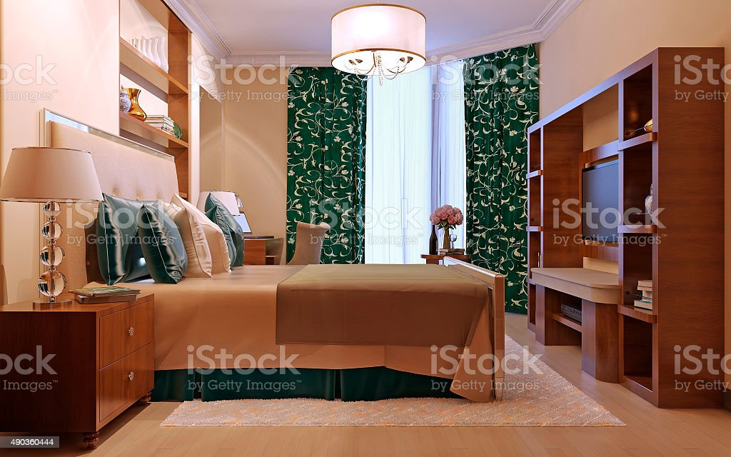 Bedroom art deco style stock photo