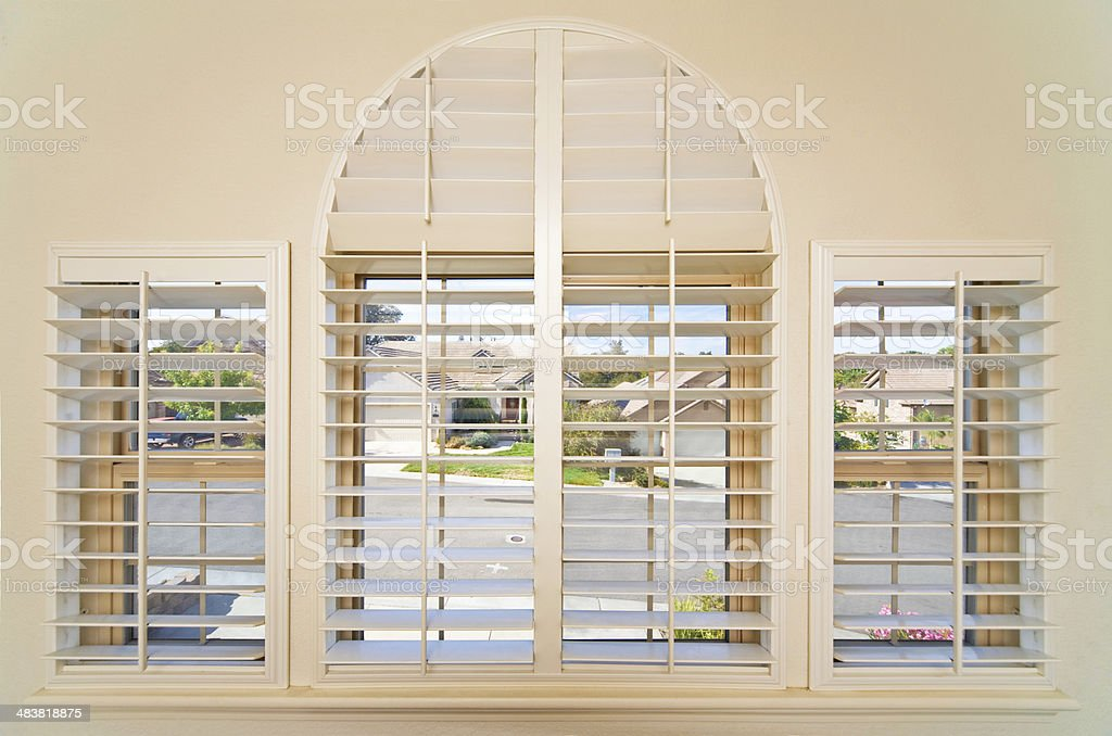 Bedroom Blinds royalty-free stock photo