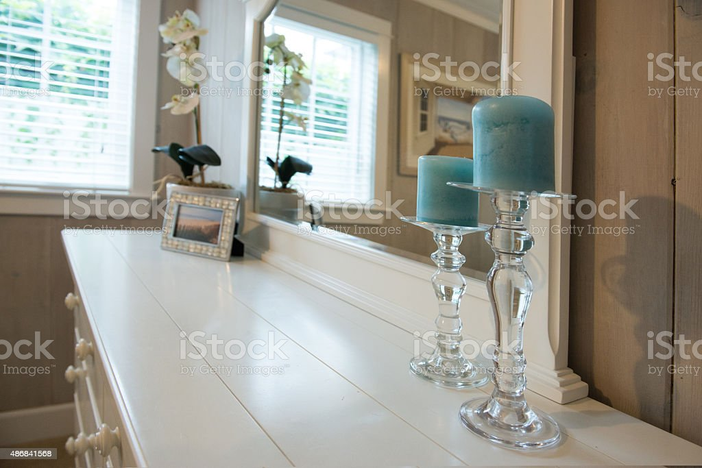 Bedroom Candles stock photo