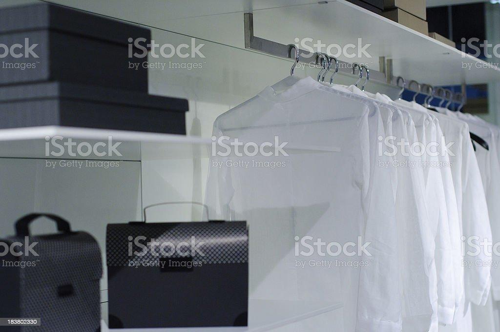 Bedroom closet - modern interior royalty-free stock photo