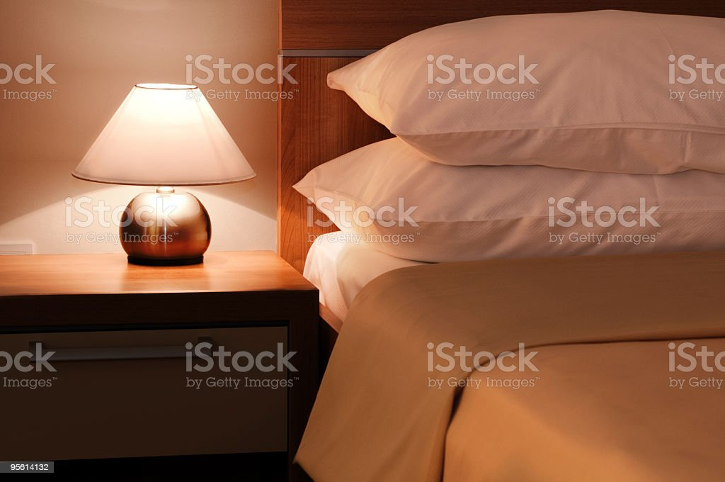 Bedroom detail royalty-free stock photo