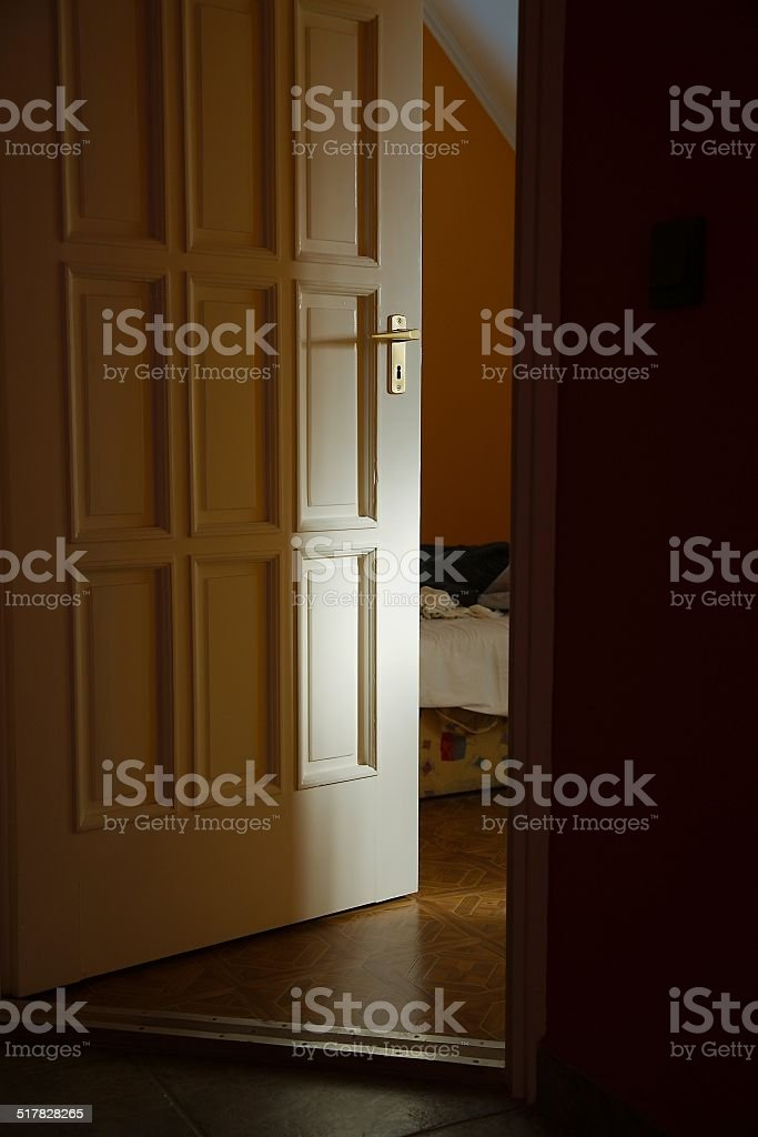 Bedroom Door stock photo
