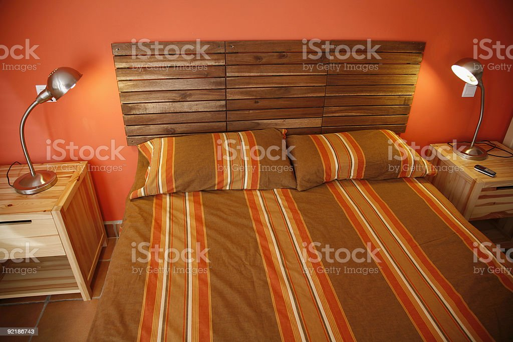 Bedroom for two. royalty-free stock photo