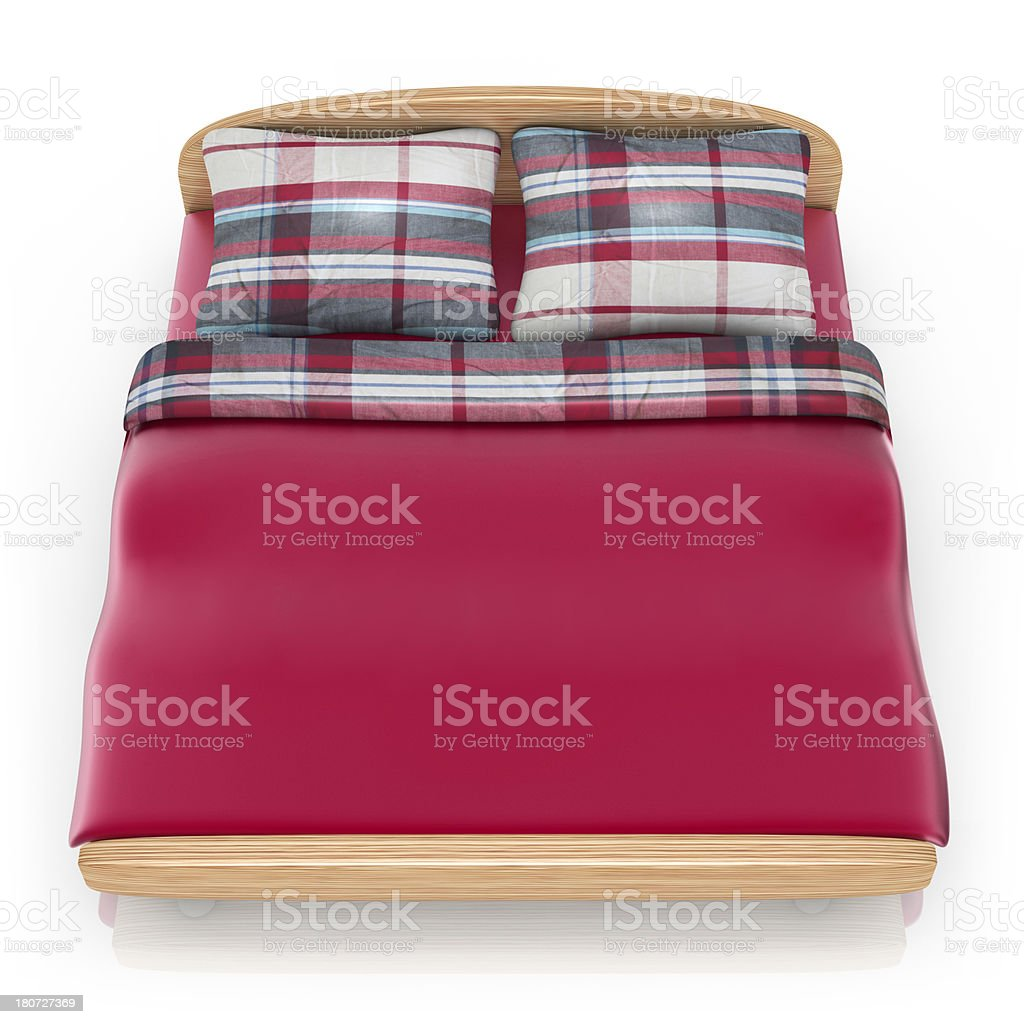 Bedroom - Icon in the Square royalty-free stock photo
